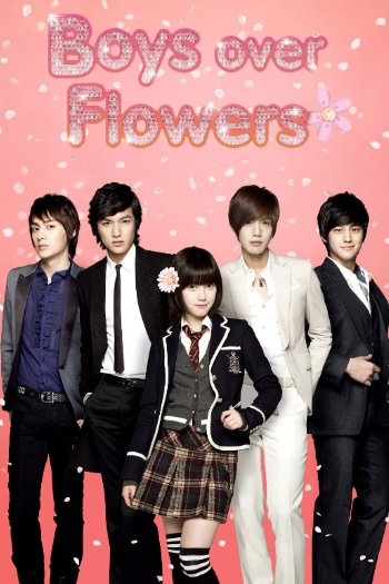 boy over flowers